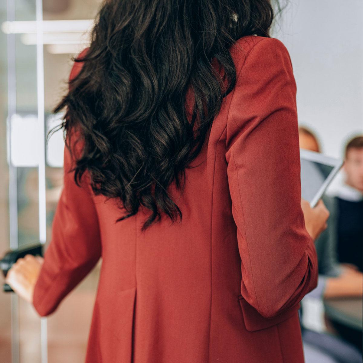 Lady in Red Blazer | Jac McNeil